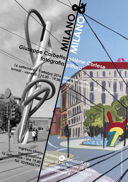 Milano e Milano fotografia e pittura spazioraw